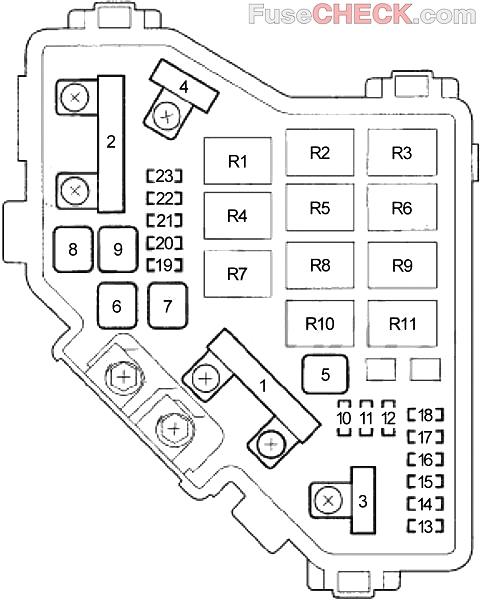 acura csx (2006-2011) fuse diagram • fusecheck.com  fuse box