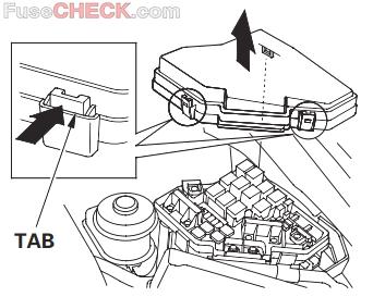 Acura CSX (2006-2011) Fuse Diagram • FuseCheck.com   Acura Csx Fuse Box      Fuse box