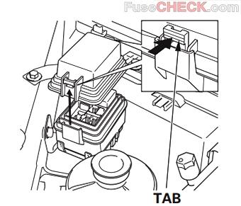 Расположение блока реле в моторном отсеке