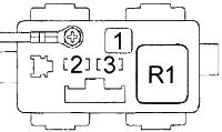 Блок реле в моторном отсеке №3