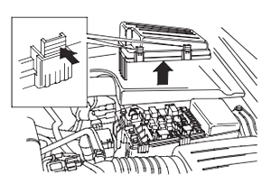 Расположение блока предохранителей в моторном отсеке (2004-2006 гг.)