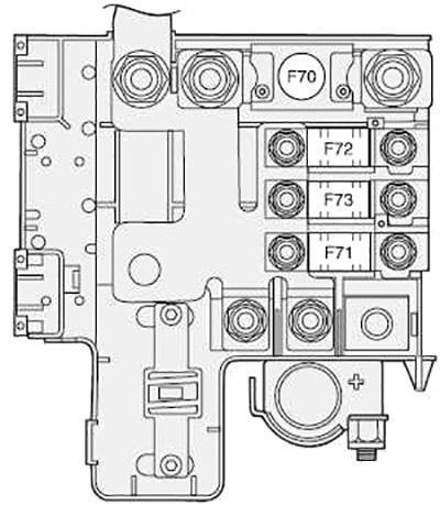 Блок управления на плюсовой клемме аккумуляторной батареи