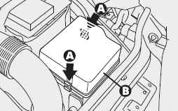 Расположение блока предохранителей двигателя