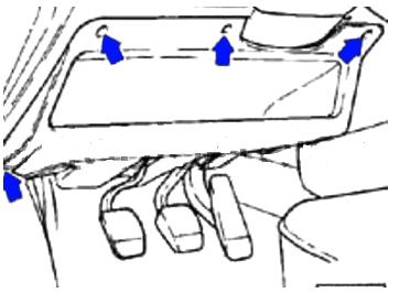 Расположение панели дополнительных реле