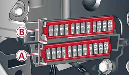 Панель предохранителей в кабине со стороны пассажира