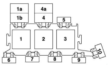 Держатель 3-точечного реле в блоке электроники