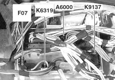 Блок предохранителей электроники двигателя (без турбонаддува, до 03.2007)