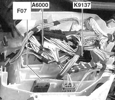 Блок предохранителей электроники двигателя (без турбонаддува, с 03.2007)