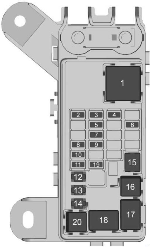 Cadillac Escalade (2014-2018) Fuse Diagram • FuseCheck.com