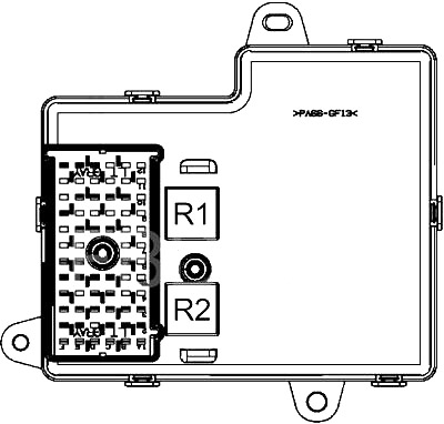 Passenger Compartment Fuse Box (back side)