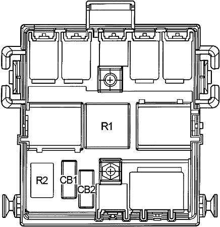 Вспомогательный блок центральной панели приборов