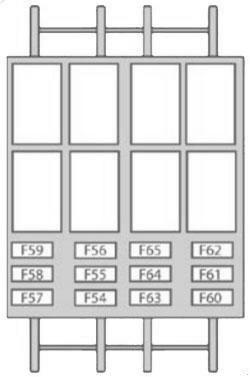 Схема блока предохранителей на стойке двери
