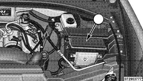 Расположение встроенного силового модуля