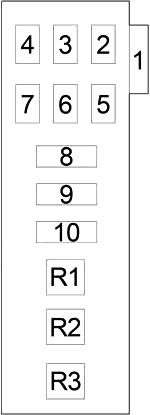Блок предохранителей №4