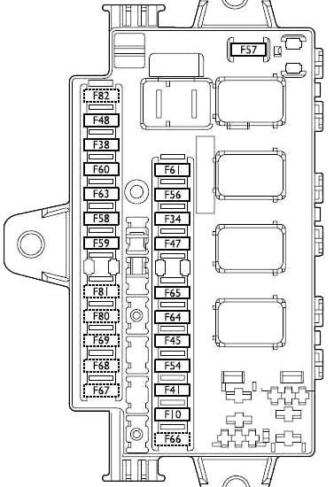 Схема блока предохранителей № 2 на приборной панели
