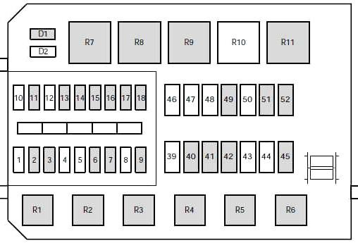 Ford Contour & Mercury Mystique (1995-2000) Fuse Diagram • | 1998 Mercury Mystique Engine Diagram |  | Fuse box