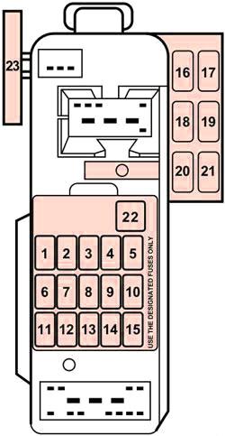 ford escort / escort zx2 (1997-2003) fuse diagram • fusecheck.com  fuse box