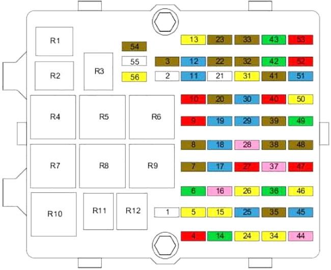 ford fiesta mk5 (2002-2008) fuse diagram • fusecheck.com  fuse box