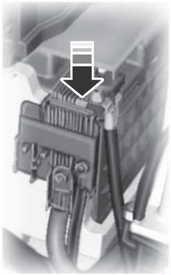 Расположение блока предохранителей аккумулятора