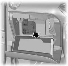Расположение блока предохранителей в салоне