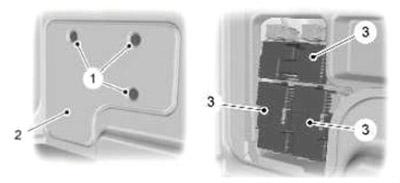 Расположение блока предохранителей в багажном отделении (универсал)