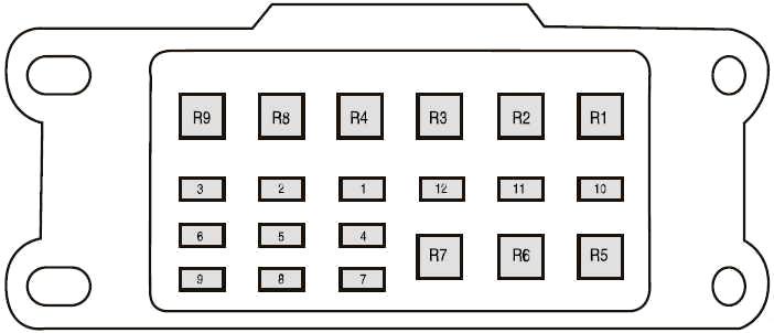 Схема блока дополнительных предохранителей