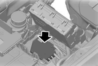 Расположение блока предохранителей высокого тока