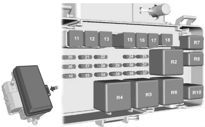 Схема распределительной коробки двигателя
