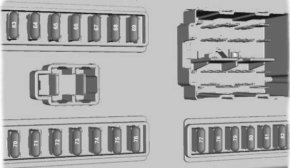 Схема распределительной коробки пассажира