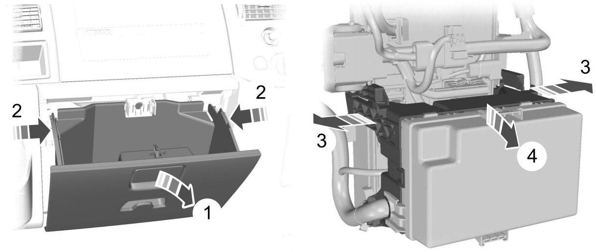 Расположение распределительной коробки пассажира