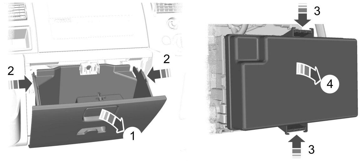 Стандартное расположение релейной коробки