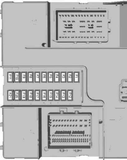 Схема блока управления кузовным оборудованием (дизельный двигатель 2,2 л)