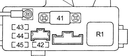 Схема (блок предохранителей №2)