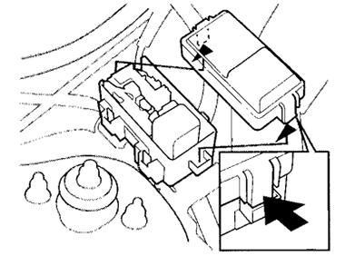 Расположение блока предохранителей ABS