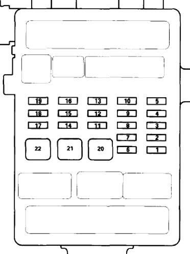 Блок предохранителей №2 в салоне Схема