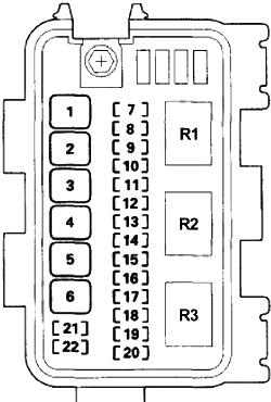 Схема блока предохранителей №2