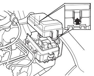 Блок предохранителей №2 в моторном отсеке Расположение