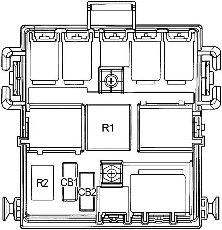Коммунальный блок центральной панели приборов