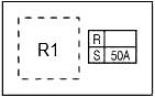 Схема блока предохранителей №3 в моторном отсеке