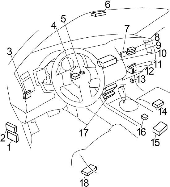 2003 Infiniti Fx35 Engine Compartment Diagram