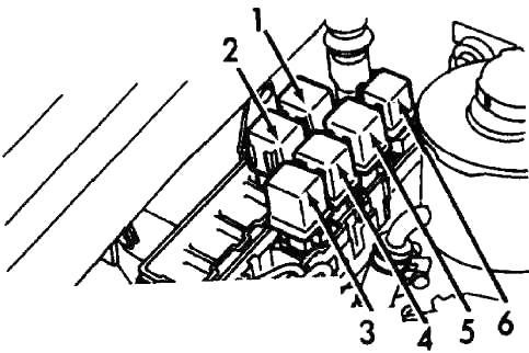 Реле АКПП модели (1990-1993 гг.)
