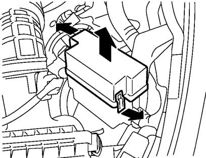 Расположение блока реле №1
