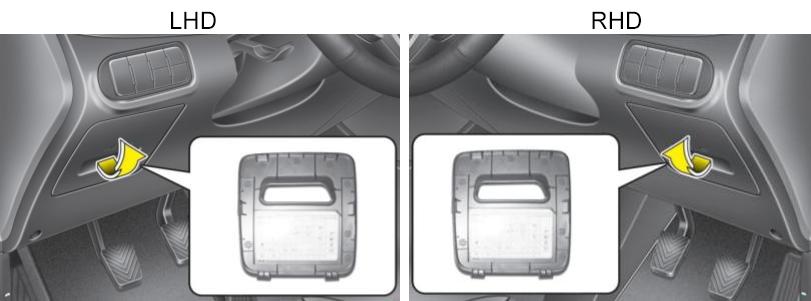 Instrument Panel Fuse Box Location