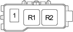 Дополнительный блок предохранителей (справа)