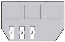 Блок предохранителей №2 в багажном отделении Схема