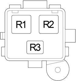 Блок реле №2 (2003-2006)