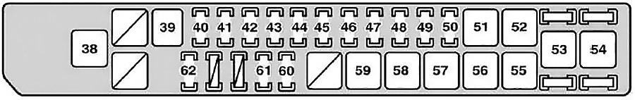 Схема блока предохранителей №1 в моторном отсеке