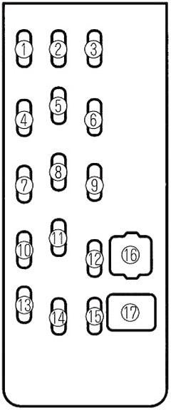 mazda familia, 323, protege (1990-2003) fuse diagram • fusecheck.com  fuse box