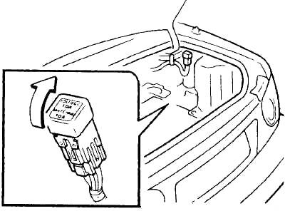 Держатель предохранителя в багажнике (местонахождение)