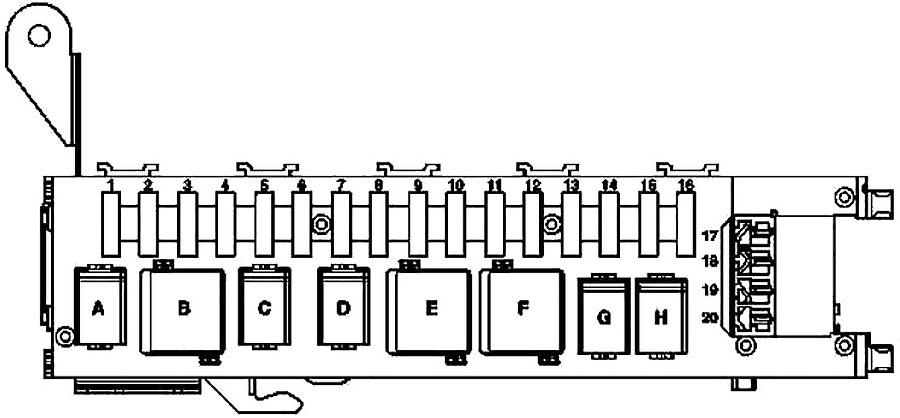 mercedes-benz c-class (w203) (2000-2007) fuse diagram • fusecheck.com  fuse box